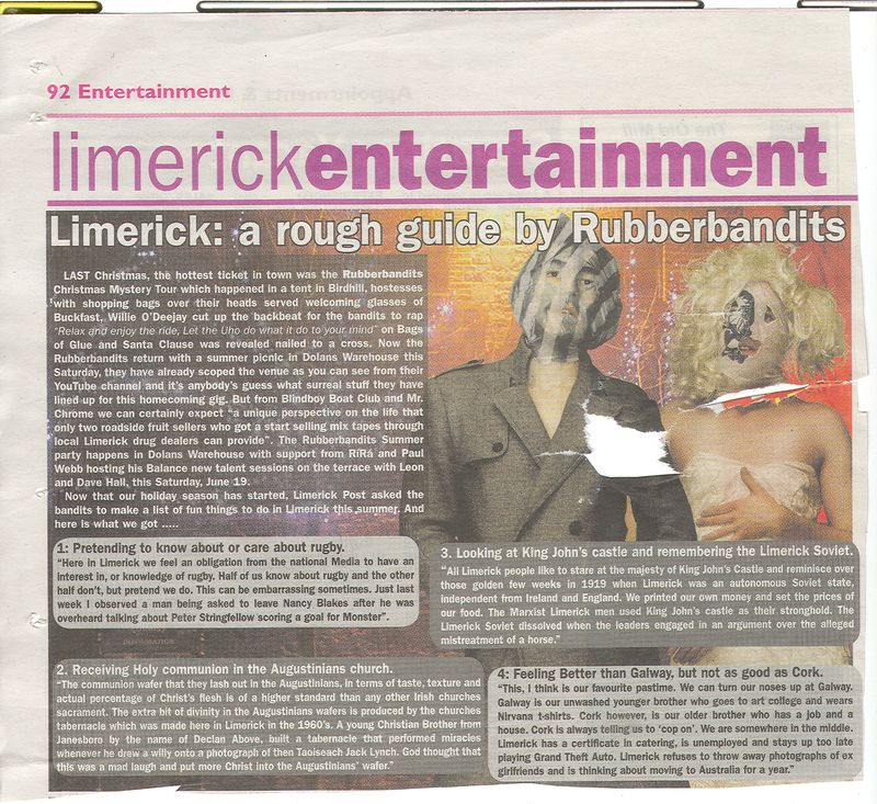 Rubberbandits guide to limerick second version