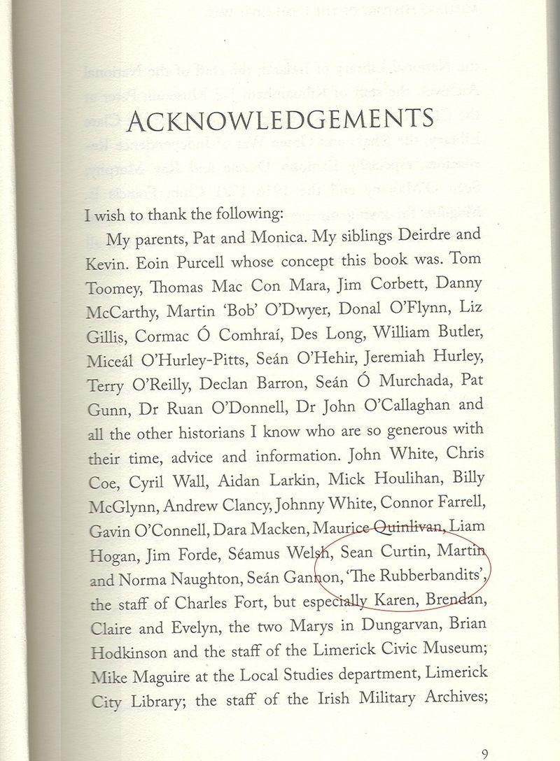 Acknowledgementsbattle for limerick_phixr